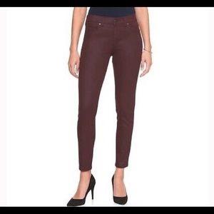 Banana Republic Coated Burgundy Skinny Jeans 28/6